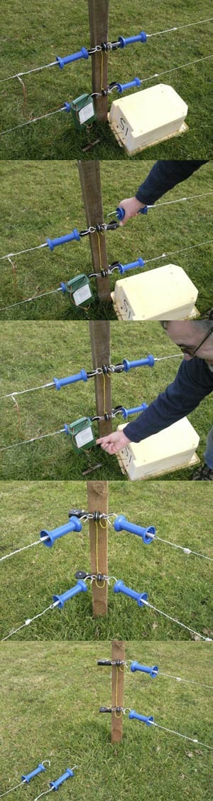 How to erect the sheep fence
